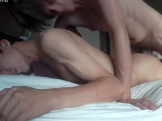 bareback boyfriend creampie fuck gay hidden surprise