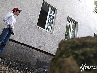 boy emo gay handjob masturbation outdoor skinny